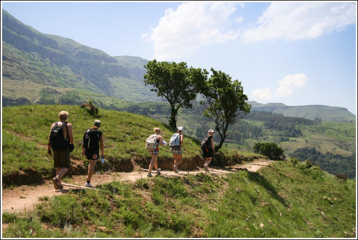 Drakensberg-fottur-Sør-Afrika