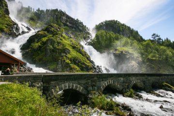 Låtefossen mellom Odda og Stavanger