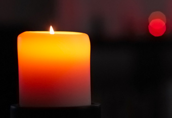 Red and yellow candle light