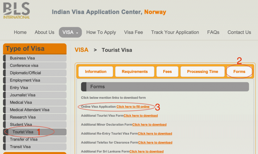 BLS-visa-application-india