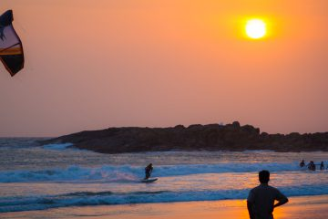 kovalam beach i Kerala India