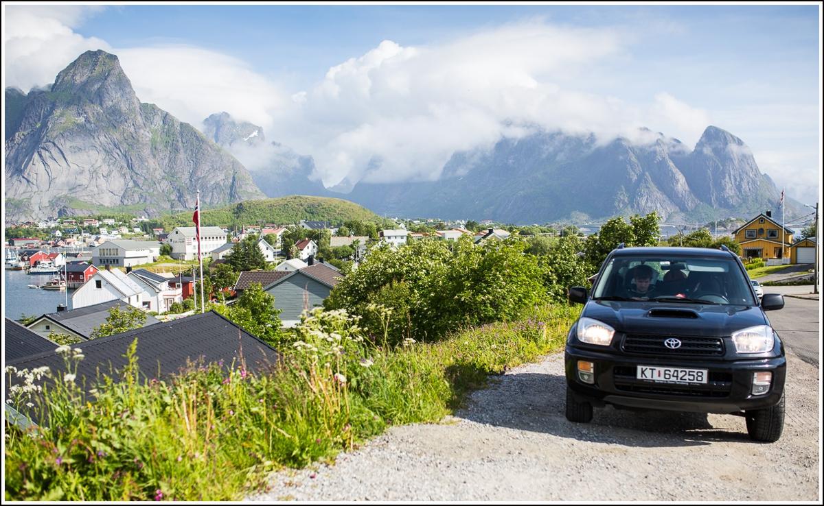 bilferie med god utsikt i norge