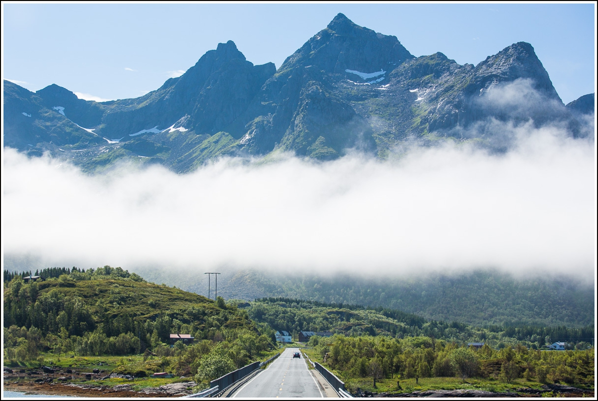 bilferie med vakker utsikt i Norge