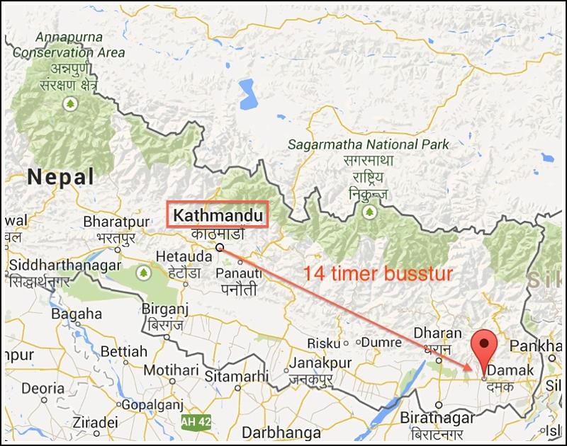 kathmandu-to-damak