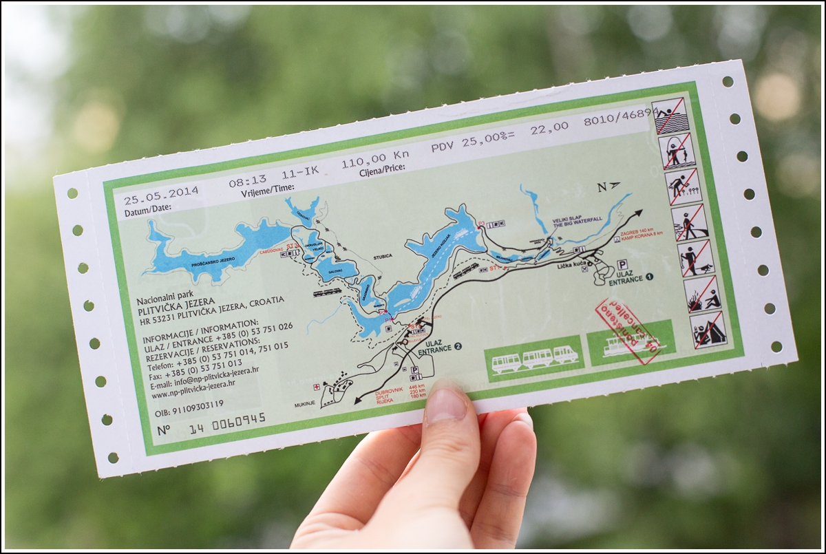 Plitvice-Croatia-ticket-map