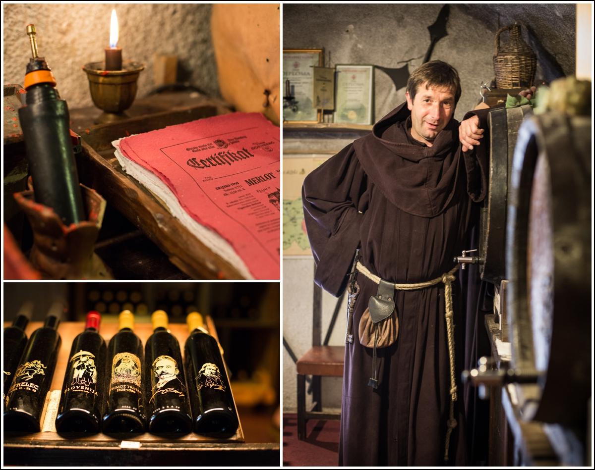 bled-castle-wine-monk