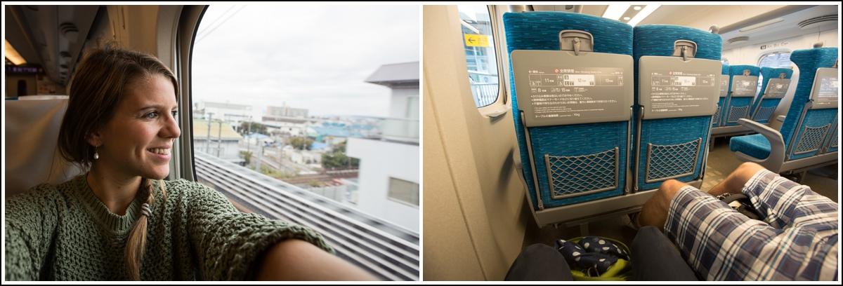 å reise på lyntog i japan