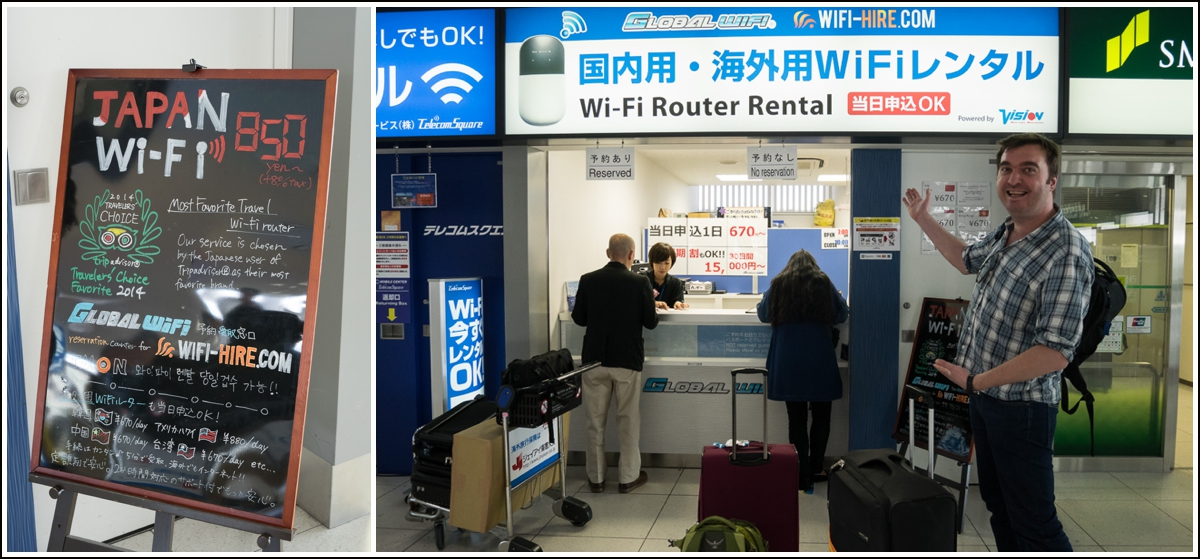 leie wifi-router til reisen i japan