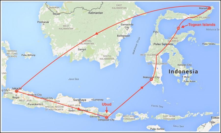 indonesia-reiserute