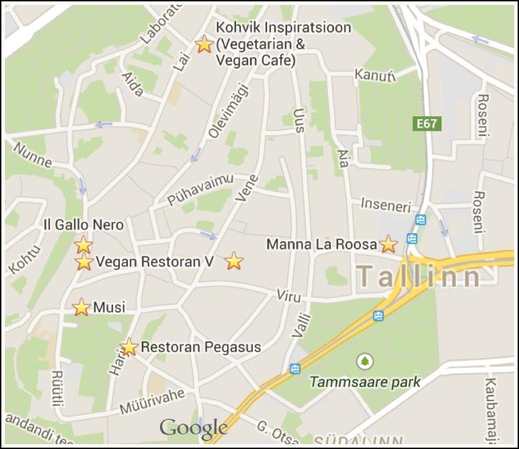 kart over tallinn Anbefalte restauranter i Tallinn kart over tallinn