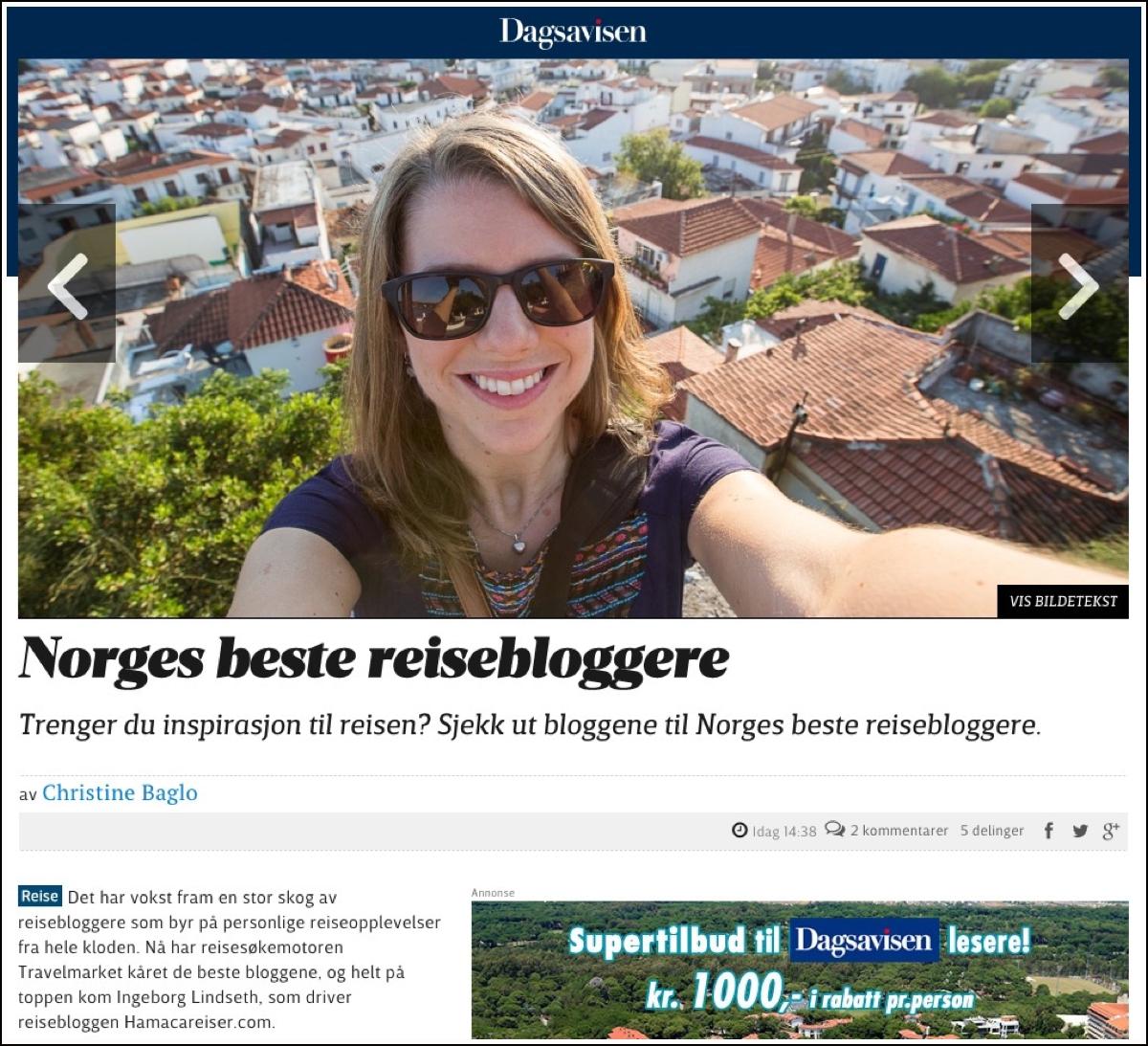 hamaca-reiseblogg-i-dagsavisen