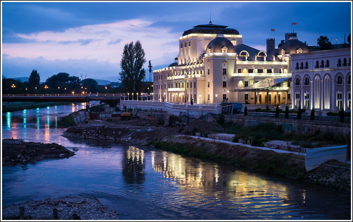 Skopje-Macedonia-evening