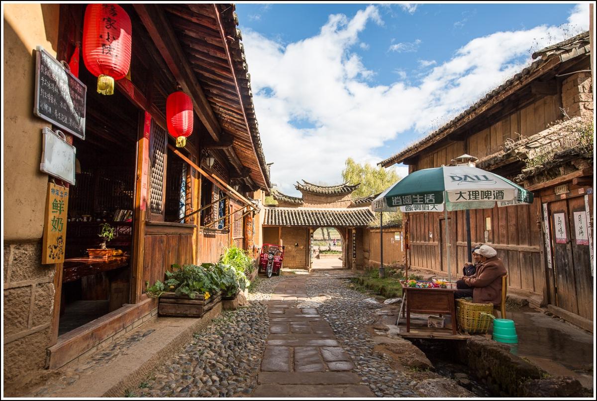 gamlebyen i Shaxi kina