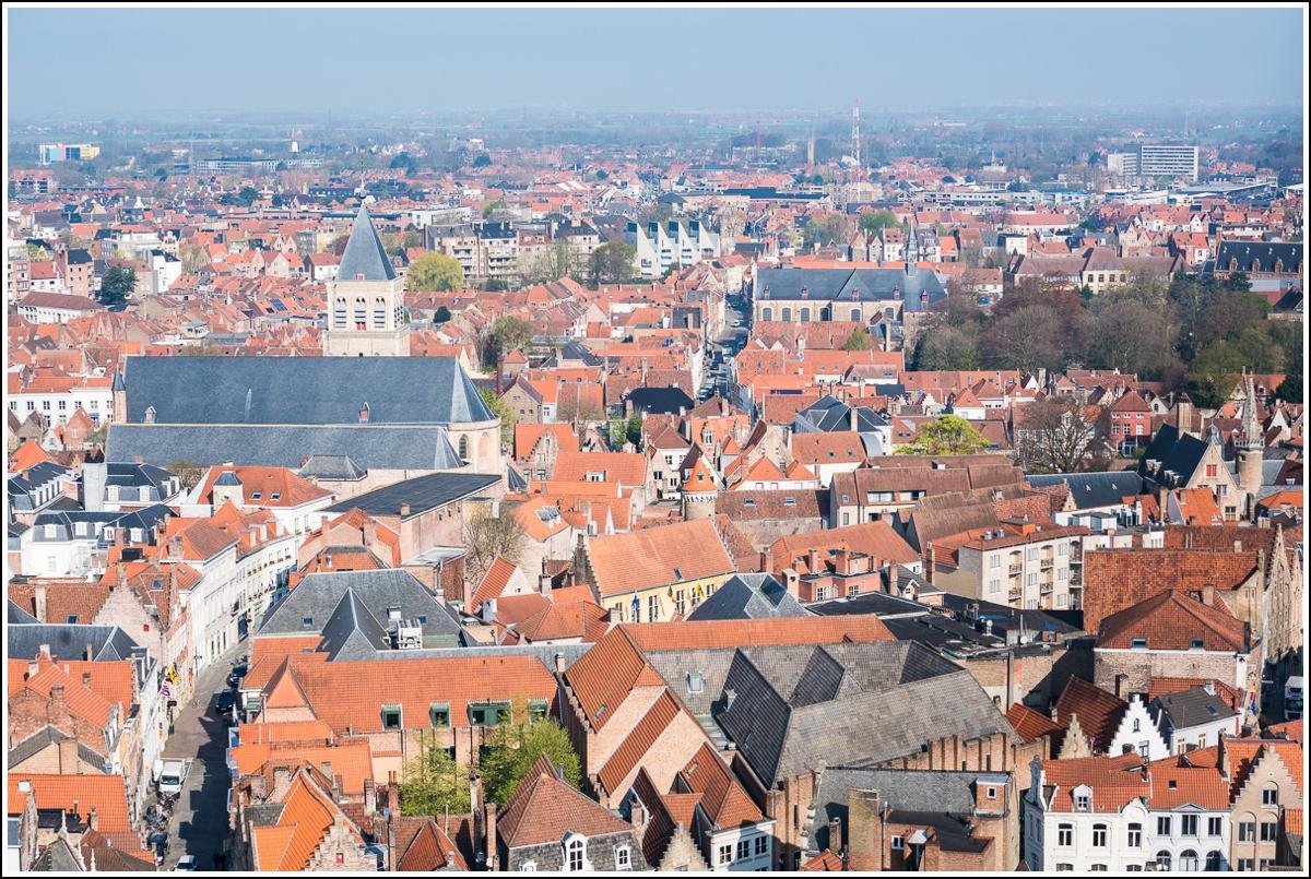 utsikt fra belfort/belfry i Brugge