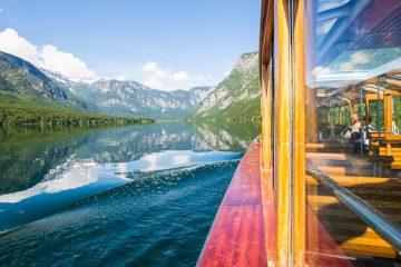båttur på bohinj i slovenia