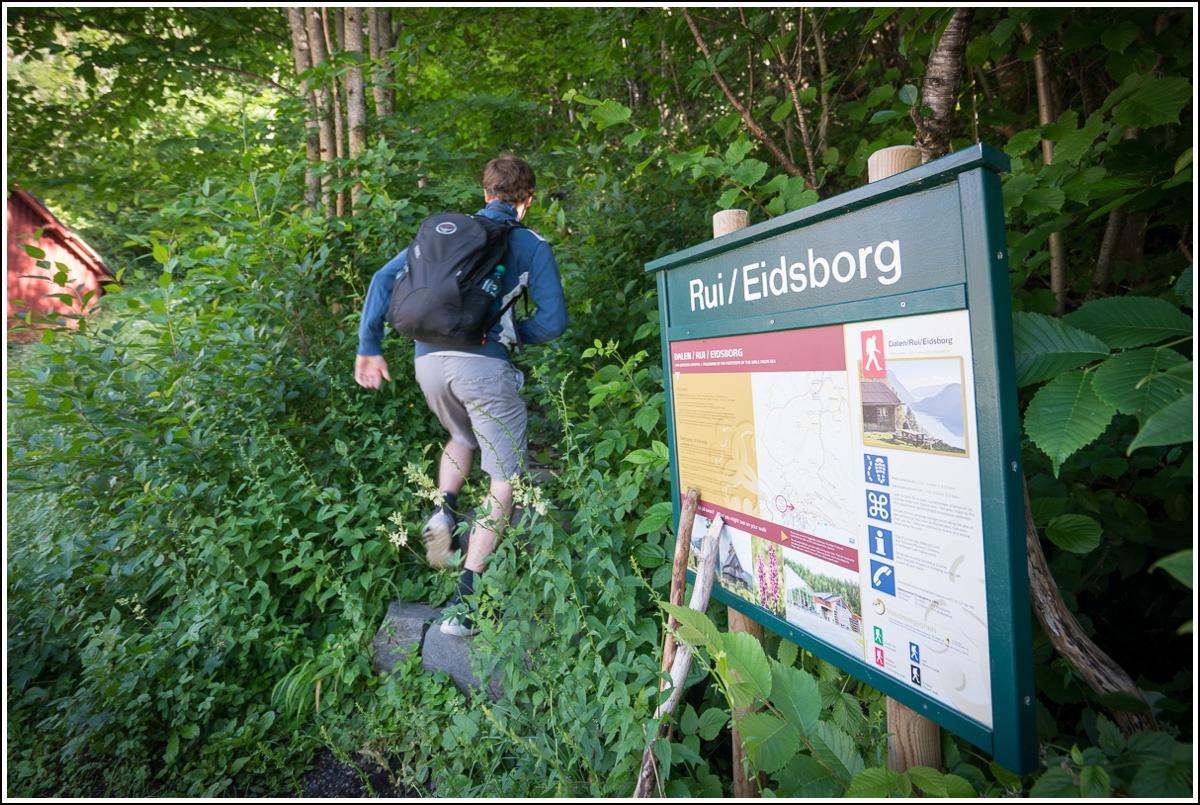 Sti fra Dalen til Rui og Eidsborg