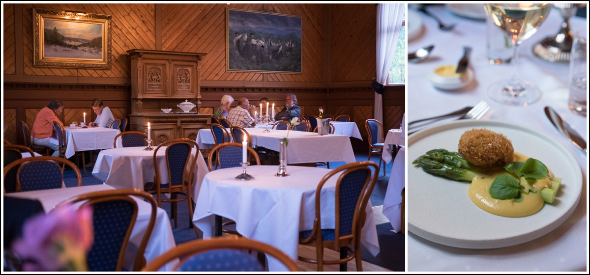 femretters vegetarmiddag på Dalen Hotel