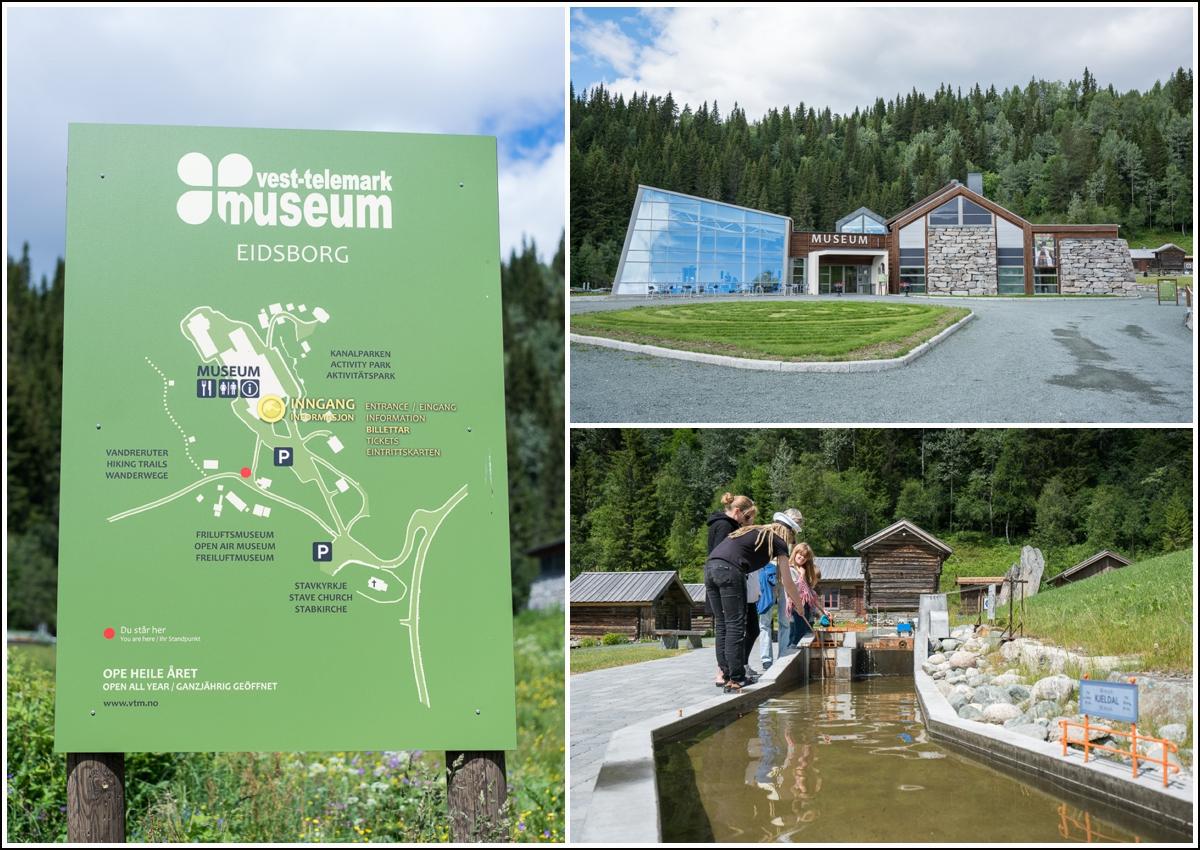 vest-Telemark museum med sluser på Eidsborg