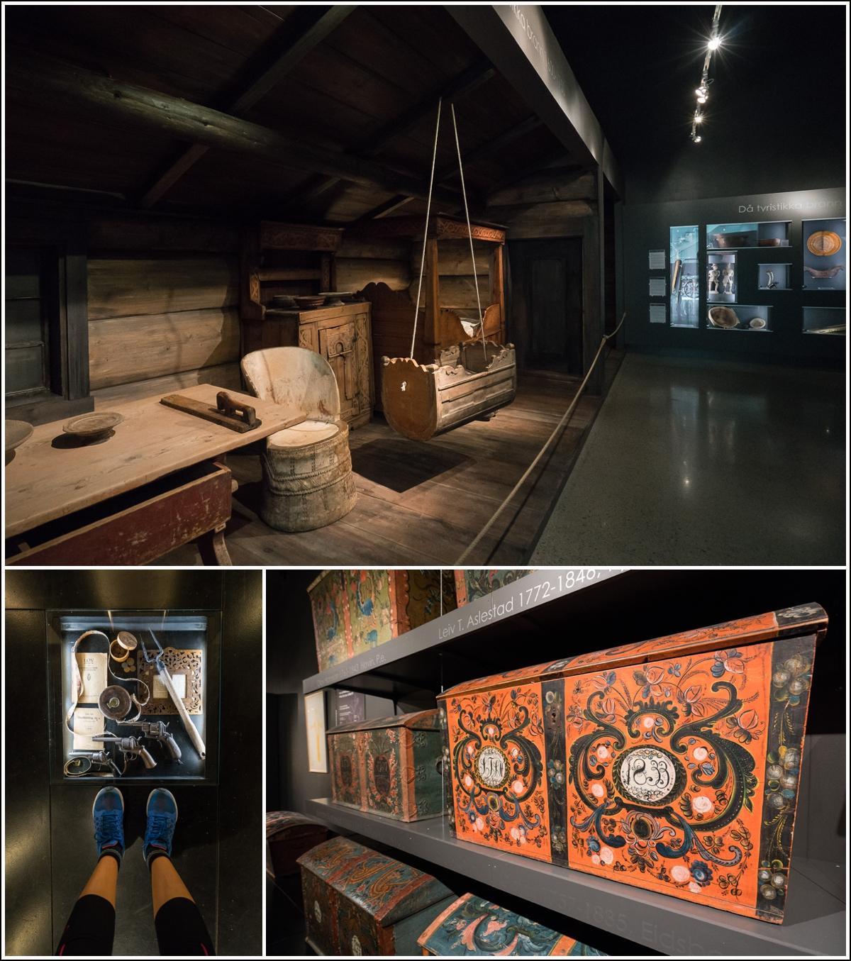 Gjenstander på Vest-Telemark museum på Eidsborg