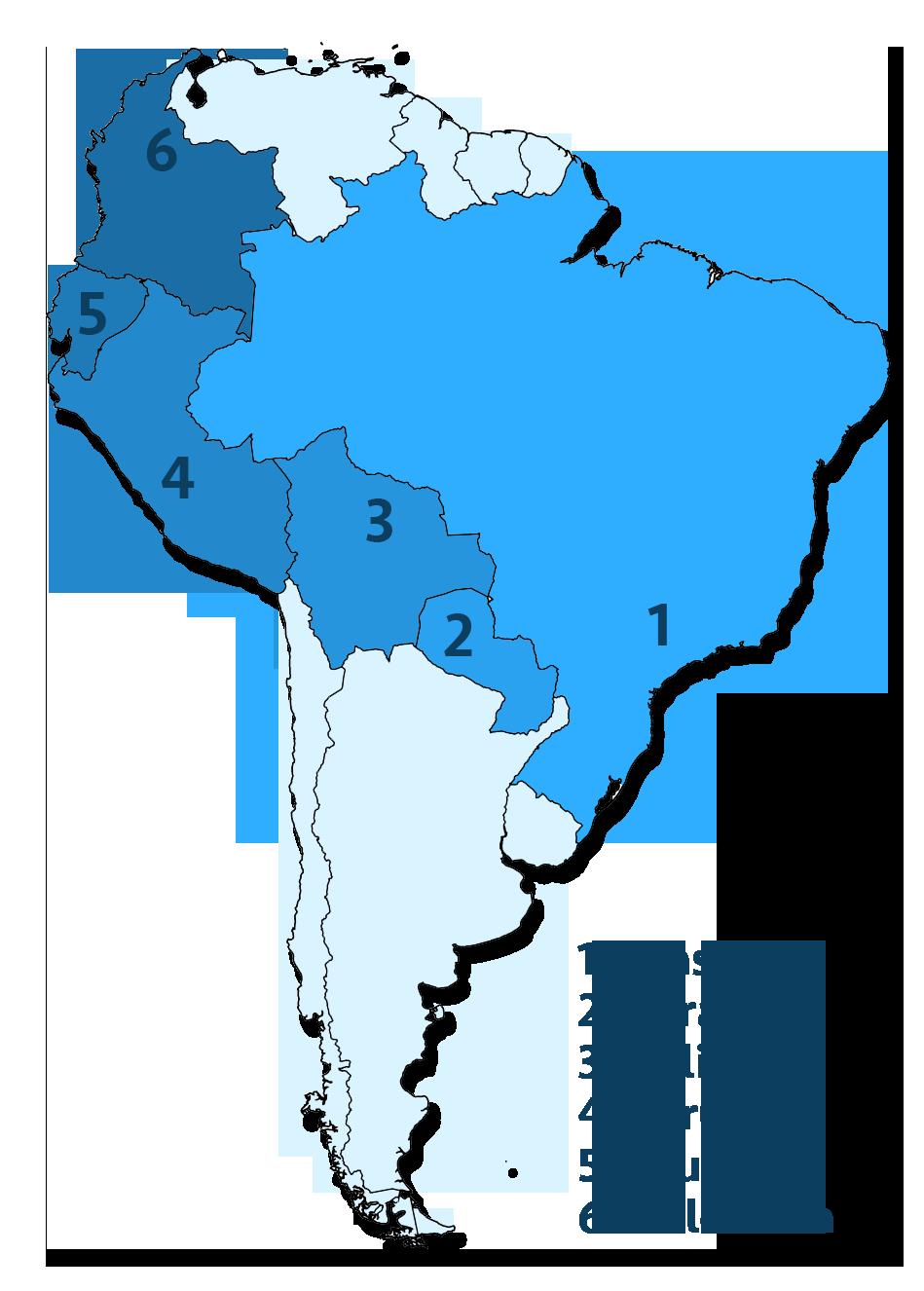sør amerika kart Reiserute og budsjett for å reise gjennom Sør Amerika