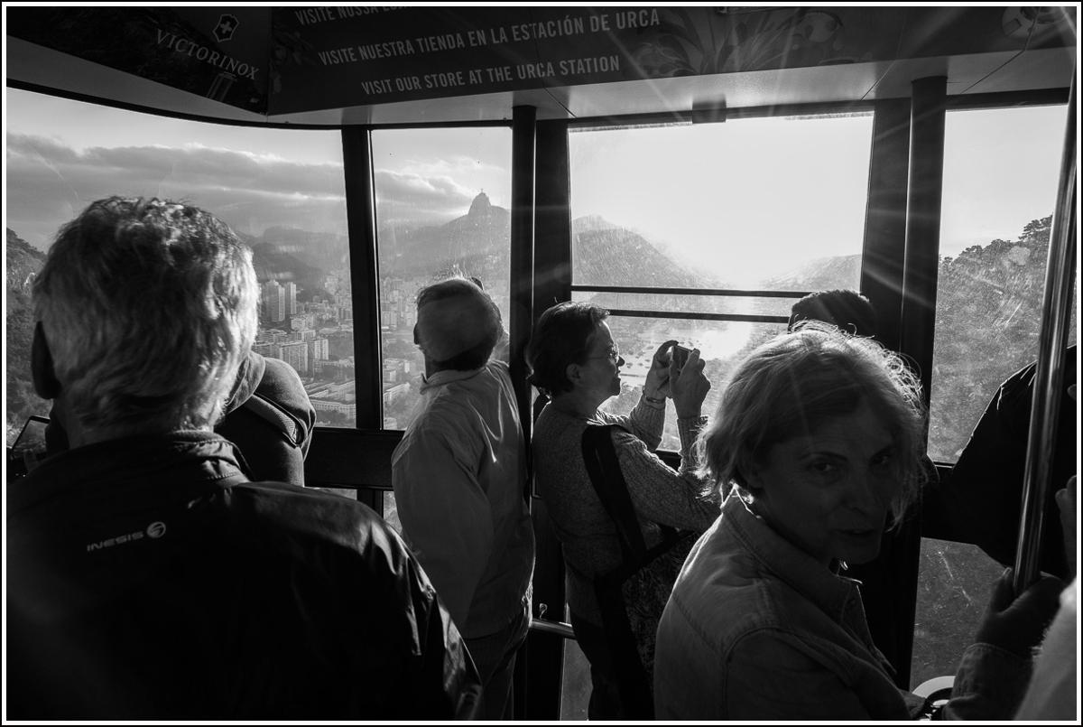 på taubanen til Sukkertoppen i Rio de Janeiro