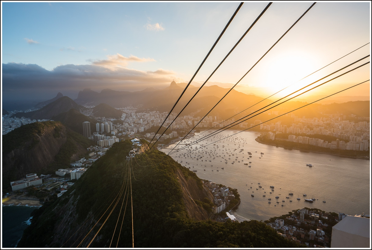 utsikt mot rio fra Pao de Acucar i Rio