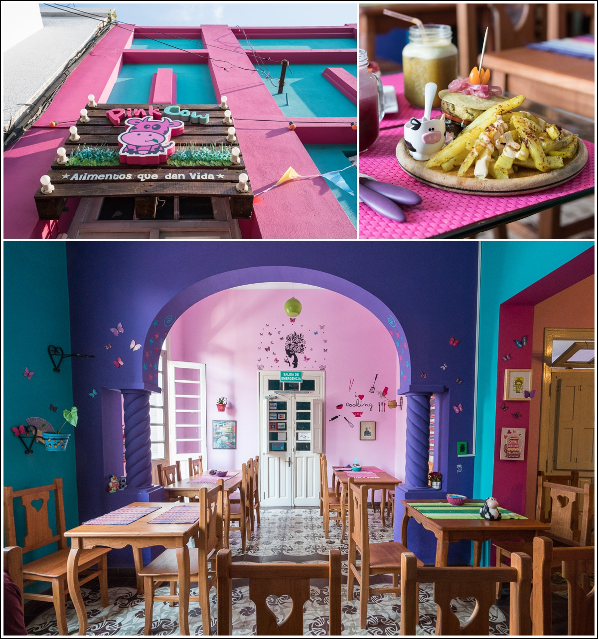 Pink Cow vegetarrestaurant i Asuncion