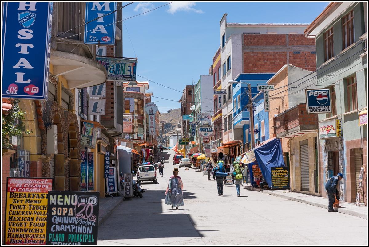 Copacabana streets in Bolivia