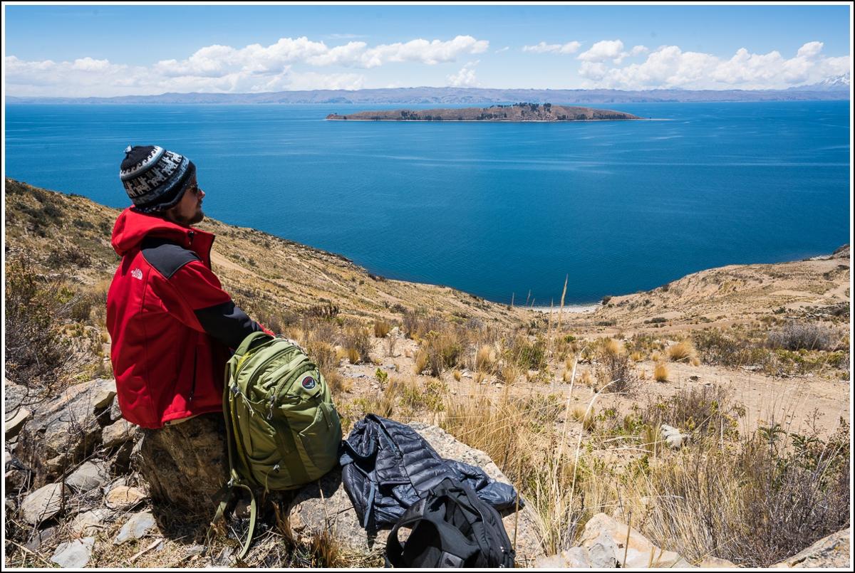 Utsikt til Isla de la Luna ved Titicaca