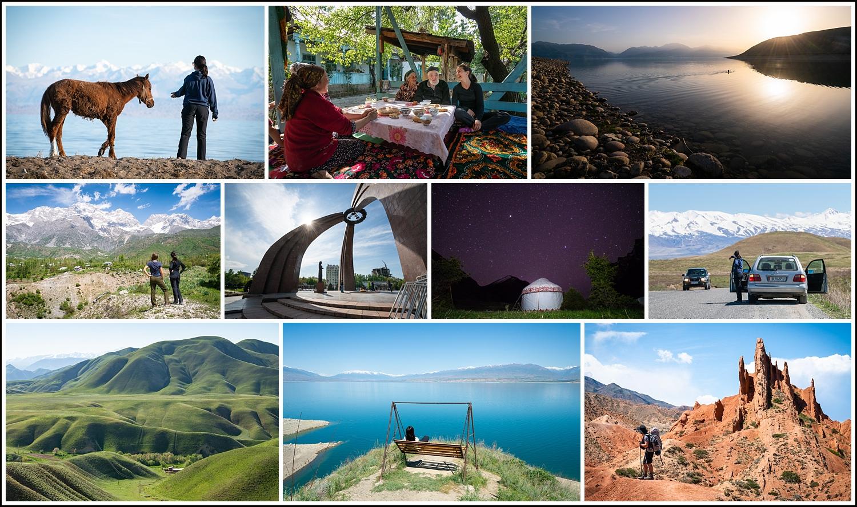 Kirgisistan-landoversikt