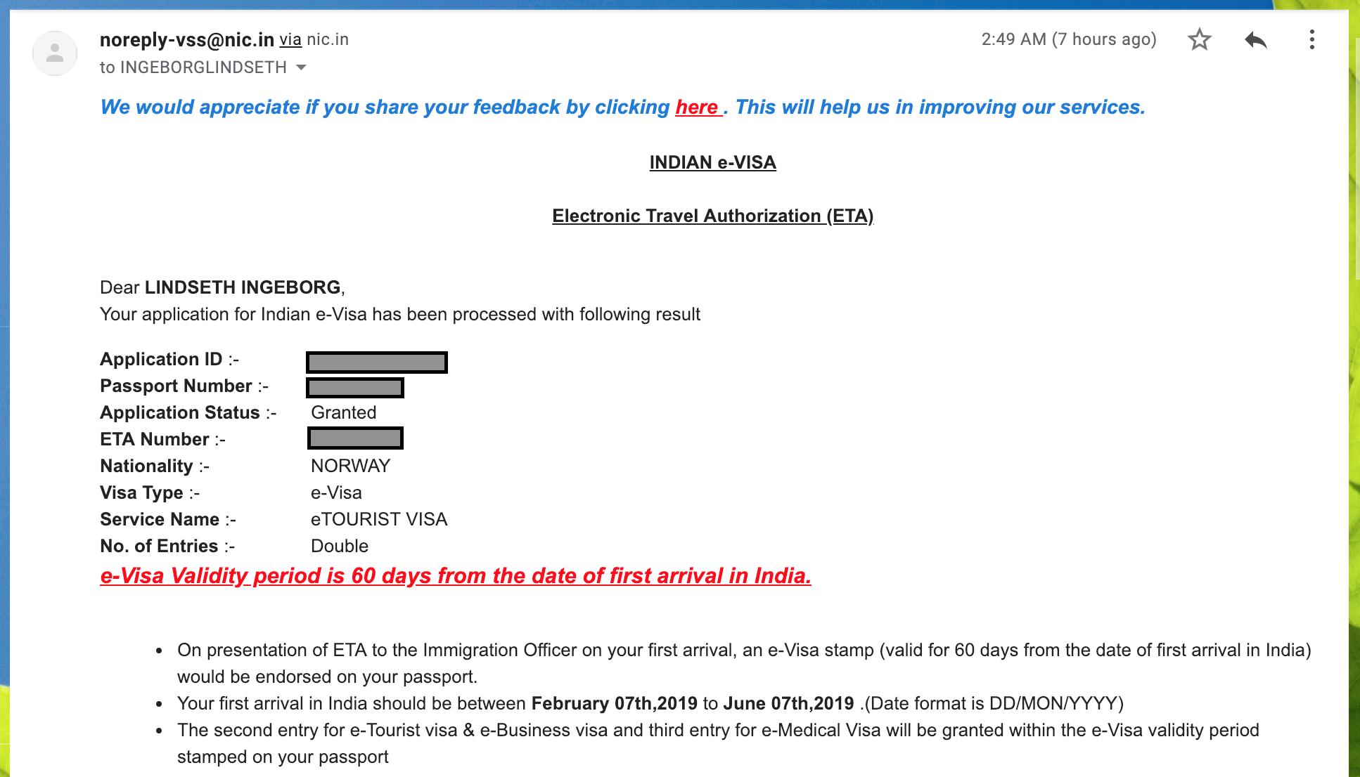 hvordan søke visum til india