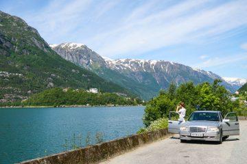Reisrute for biltur i Sør-Norge