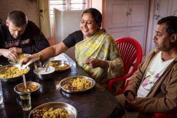 Bo hos indisk familie i Madikeri India