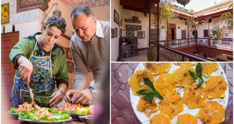 På matlagingskurs på Riad Chorfa i Marrakech
