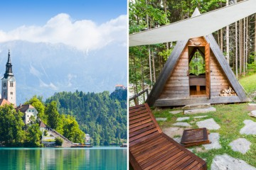 borgen i bled og camping ved innsjøen
